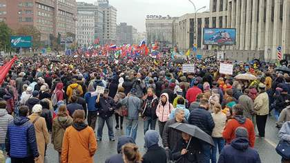 У Москві проходить багатотисячний мітинг на підтримку російських політв'язнів: фото і відео
