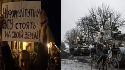 Главные новости 2 октября: протесты против формулы Штайнмайера, разведение войск на Донбассе
