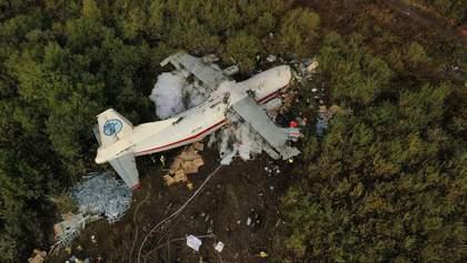 Как выглядит место крушения самолета Ан12 под Львовом: фото и видео с высоты