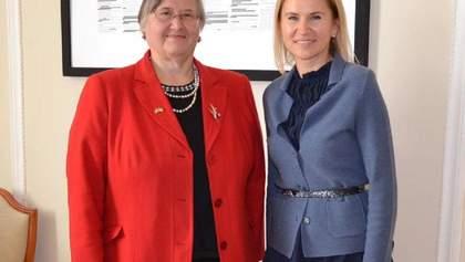 Заступниця голови ВР Олена Кондратюк прийняла Посла Республіка Хорватія в Україні Аніцу Джамич