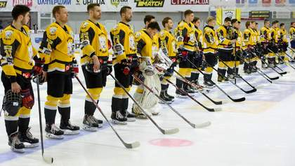 Хокеїсти українського клубу ефектно подякували фанатам після сенсаційної перемоги: відео