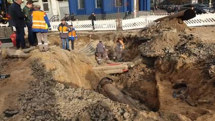 Прорыв трубы с кипятком на Шота Руставели в Киеве: как выглядит улица и когда закончат ремонт