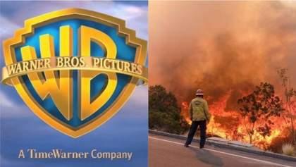 Кіностудію Warner Bros евакуювали через пожежі у Каліфорнії: відео
