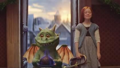 Приключения маленького дракона и рыжей девочки: сеть тронуло рождественское видео