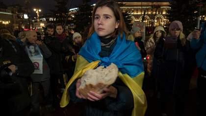 В Москве почтили память жертв Голодомора: фото и видео