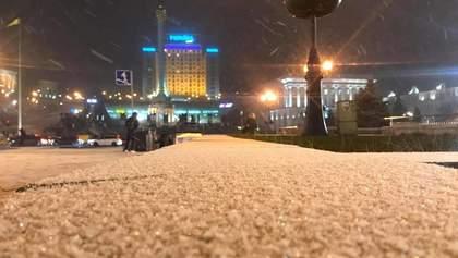В Киеве выпал снег: волшебные фото, видео