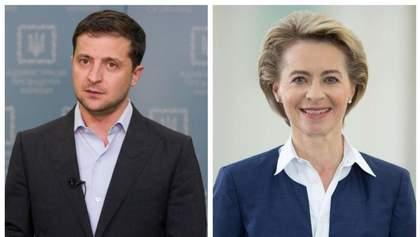 Фінансова допомога ЄС: Зеленський поговорив з президенткою Єврокомісії
