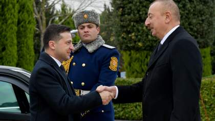 Президенты Зеленский и Алиев проводят встречу в Баку: фото, видео