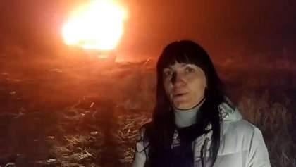 Украинка сожгла свой автомобиль на еврономерах из-за предстоящих штрафов: видео