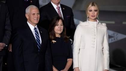 Иванка Трамп пришла на официальное мероприятие в белом пальто: фото