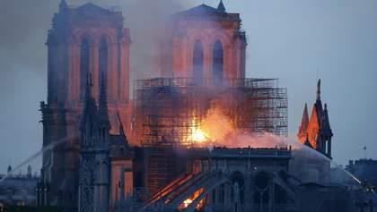 Пожежа в Нотр-Дамі: собор можуть повністю не врятувати