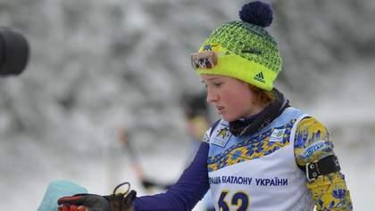 14-летняя биатлонистка Меркушина второй день подряд разрывает чемпионат Украины