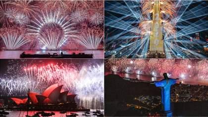 Як світ зустрів Новий рік: яскраві фото з різних куточків планети