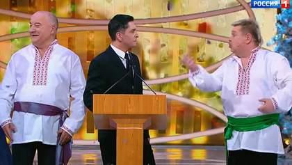 В России показали неуклюжую пародию на Зеленского с его двойником: видео
