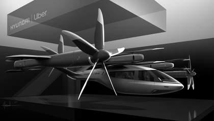 Hyundai и Uber показали концепт аэротакси-конвертоплана: фото