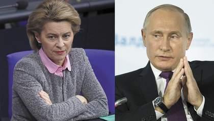 Голова Єврокомісії Фон дер Ляєн обговорила з Путіним Україну: деталі розмови