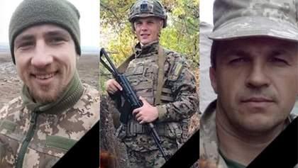 Черные Запорожцы попрощались с тремя собратьями, погибшими на Донбассе: фото