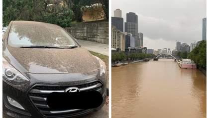 В Австралії випав бурий дощ: фото і відео