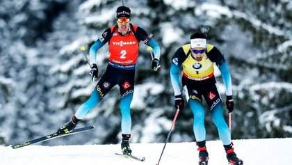 Биатлон: Фийон Майе выиграл драматический масс-старт в Поклюке, украинцы провалили гонку