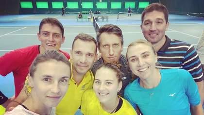 Шевченко провел тренировку со звездами украинского тенниса