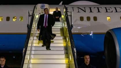 Помпео прилетел в Украину и сделал первое заявление