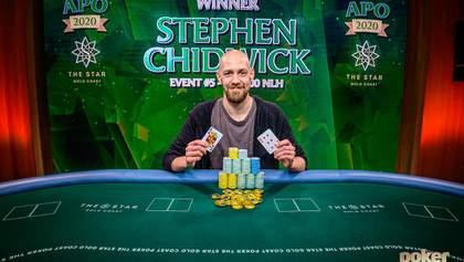 Стівен Чідвік заробив майже 500 000 доларів за три дні