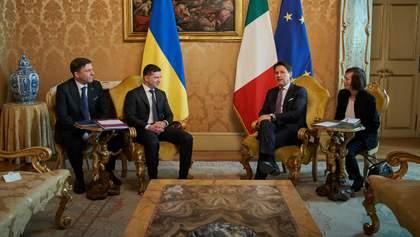 Зеленский встретился с премьером Италии Конте: что обсудили стороны