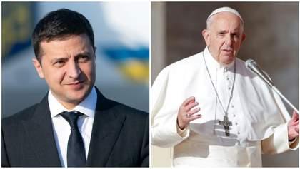 Зеленський проситиме Папу Римського натиснути на Росію