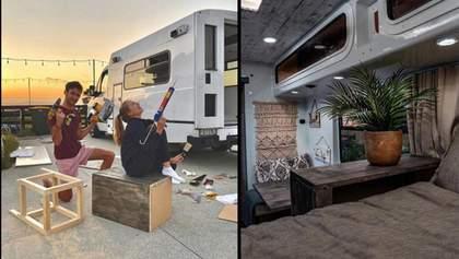Пара превратила старую машину скорой помощи в невероятный дом на колесах: видео