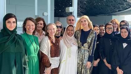 У розкішній золотистій сукні: Іванка Трамп здійснила офіційну поїздку до ОАЕ
