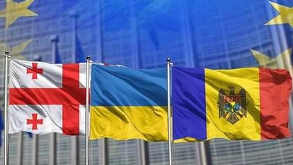 Україна, Грузія та Молдова разом попросили в Євросоюзу більше грошей