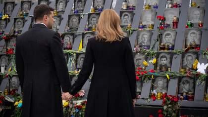 Зеленский почтил память Героев Небесной Сотни: фото