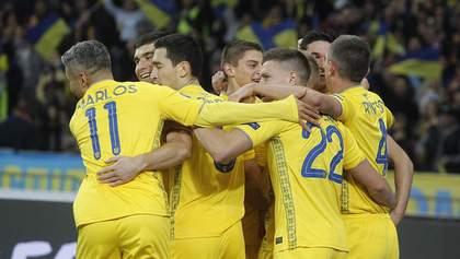 На каком месте сборная Украины в рейтинге ФИФА 2020