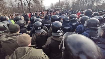 Протесты в Новых Санжарах: полиция задержала 24 человека