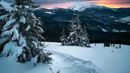 В Карпатах выпало более 1 метра снега: сказочные фото и видео заснеженных гор