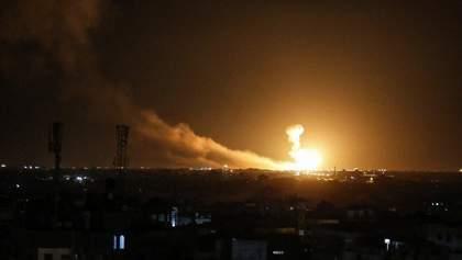 Израиль ответил на ракетную атаку из Палестины нападением на Сирию: фото и видео