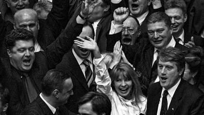 Как выглядели украинские политики в 90-х: фото, которые вас удивят