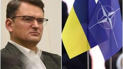 Украина может вступить в НАТО с оккупированными территориями, – Кулеба