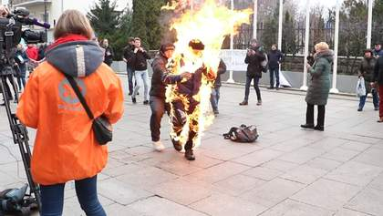 Самопідпал під Офісом Президента: постраждалий – в реанімації