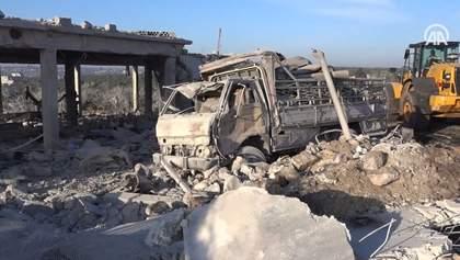 Российская авиация ударила по укрытию беженцев в Сирии: много погибших – видео 18+
