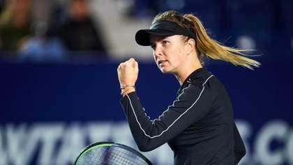 Українська тенісистка Еліна Світоліна вийшла у півфінал турніру у Мексиці