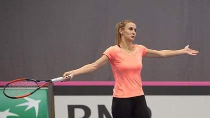Украинка Цуренко остановилась в шаге от финала на теннисном турнире в США