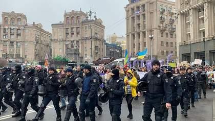 Нацполиция задержала нескольких участников Марша против абортов, среди них Вита Заверуха