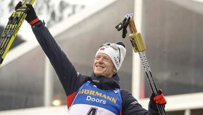 Биатлон: Бе выиграл спринт в Контиолахти, украинец Пидручный – 19-й