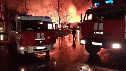 Под Москвой вспыхнул крупный пожар в гостинице: видео
