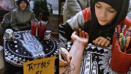 10-летний мальчик мечтает стать тату-мастером и ежедневно создает невероятные рисунки