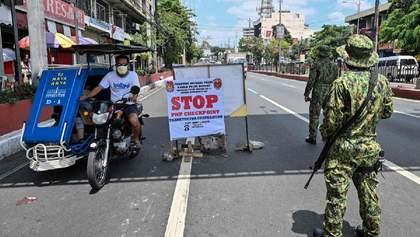 На Филиппинах полиция застрелила мужчину, который нарушил карантин