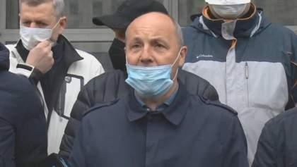 Чорновол отказалась свидетельствовать в ГБР, поддержать ее пришли однопартийцы, нарушая карантин