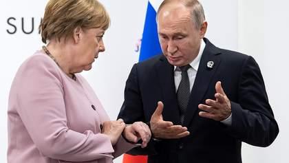 Путин поговорил с Меркель о войне на Донбассе: подробности