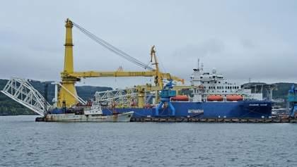 """Корабль, что может достроить """"Северный поток-2"""", прибыл в Балтийское море"""